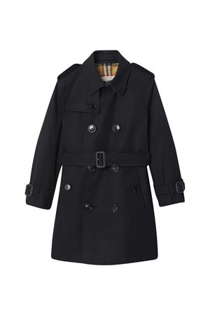 Trench nero con abbottonatura frontale Burberry kids BURBERRY KIDS | 13 | 8001161A1189
