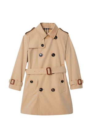 Long beige teen trench with buttons Burberry kids BURBERRY KIDS | 13 | 8001162A1366T