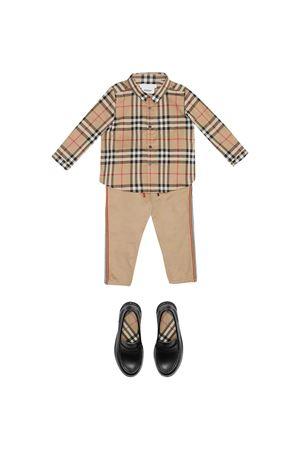 Brown striped shirt Burberry kids BURBERRY KIDS   5032334   8014137A7026