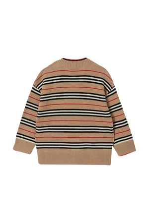Brown striped V-neck cardigan Burberry kids BURBERRY KIDS   7   8027594A7026