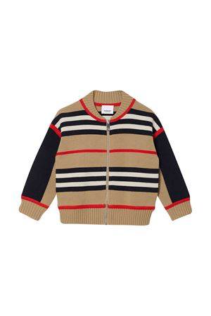 Cardigan marrone a righe Burberry kids BURBERRY KIDS | 7 | 8030020A7026