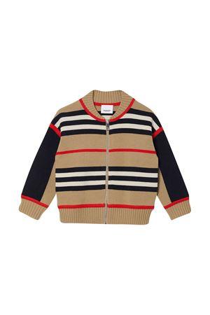 Cardigan marrone teen a righe Burberry kids BURBERRY KIDS | 7 | 8030020A7026T