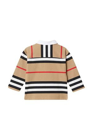 Polo marrone con motivo a righe Burberry kids BURBERRY KIDS | 7 | 8030064A7029