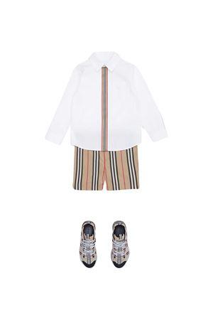 Camicia bianca con riga Burberry kids BURBERRY KIDS | 5032334 | 8030103A1464