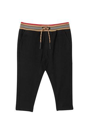 Pantalone nero con logo Burberry kids BURBERRY KIDS | 9 | 8030130A1189