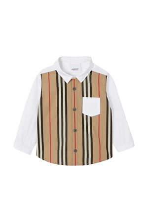 Camicia con motivo a righe Burberry kids BURBERRY KIDS | 5032334 | 8030290A1464