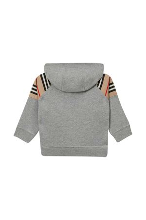 Grey hoodie with frontal logo Burberry kids BURBERRY KIDS | 13 | 8031665A1216