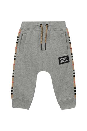 Grey trousers with lateral band Burberry kids BURBERRY KIDS | 9 | 8031666A1216