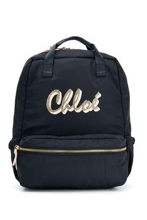 Zaino blu con logo Chloe Kids CHLOÉ KIDS | 5032345 | C10274859