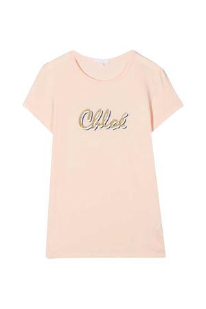 T-shirt rosa cipria Chloé Kids CHLOÉ KIDS | 8 | C15B3045F