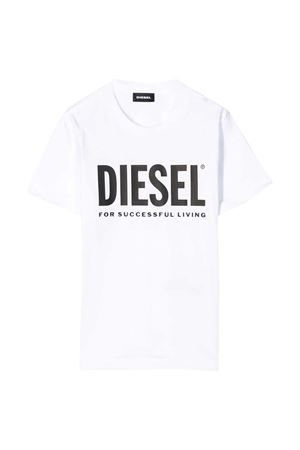 White t-shirt with black frontal logo Diesel kids DIESEL KIDS | 8 | 00J4P600YI9K100