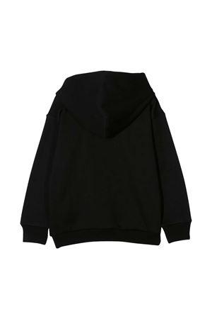 Black sweatshirt with hood and white frontal logo Diesel kids DIESEL KIDS   -108764232   00J4PP0IAJHK900