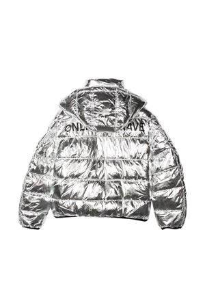 Silver jacket with hood and zip Diesel kids DIESEL KIDS | 3 | 00J4XRKXB40K90A