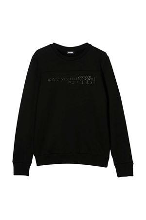 Black sweatshirt with frontal press Diesel kids DIESEL KIDS   -108764232   00J4YR0IAEGK900
