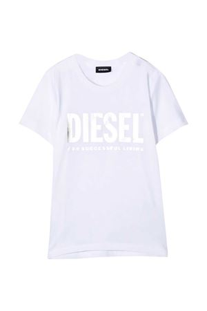 White t-shirt with white frontal logo Diesel kids DIESEL KIDS | 8 | 00J50W00YI9K100