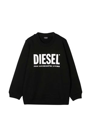 Black sweater with frontal press Diesel kids DIESEL KIDS | -108764232 | 00J51A0IAJHK900