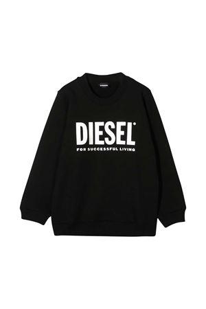 Felpa nera teen con stampa frontale Diesel kids DIESEL KIDS | -108764232 | 00J51A0IAJHK900T