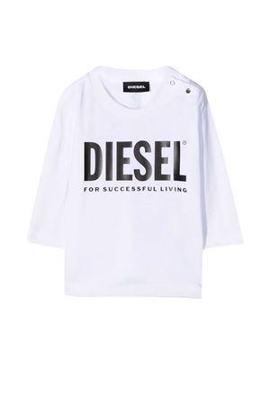 White t-shirt with frontal logo Diesel kids DIESEL KIDS | 8 | 00K26K00YI9K100