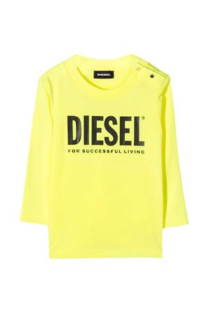 Yellow t-shirt with frontal logo Diesel kids DIESEL KIDS | 8 | 00K26K00YI9K218