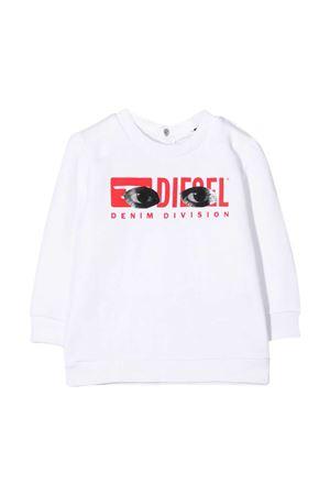 White sweatshirt Diesel kids baby  DIESEL KIDS | -108764232 | 00K2760BAPSK100