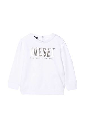 White sweater with frontal logo Diesel kids DIESEL KIDS | -108764232 | 00K2780IAJHK100