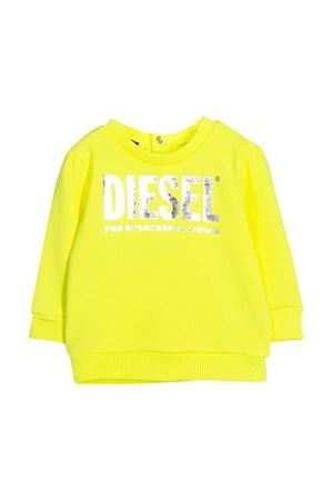 Yellow sweater with frontal logo Diesel kids DIESEL KIDS | -108764232 | 00K2780IAJHK218