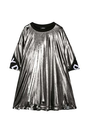 Metallic effect gray dress teen Dkny Kids  DKNY KIDS | 11 | D32762016T