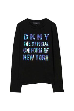Felpa nera Dkny Kids DKNY KIDS | -108764232 | D35Q8109B