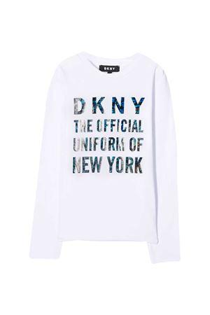 Felpa bianca teen Dkny Kids DKNY KIDS | -108764232 | D35Q8110BT