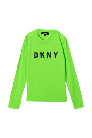 Fluo green Dkny Kids teen t-shirt DKNY KIDS | 8 | D35R1461AT