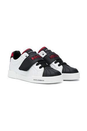 Black and white teen sneakers Dolce&Gabbana kids Dolce & Gabbana kids | 90000020 | DA0930AW43489926T