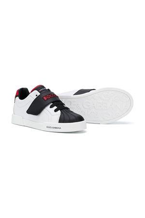 Sneakers con design color-block bianche e nere teen Dolce&Gabbana kids Dolce & Gabbana kids | 90000020 | DA0930AW43489926T