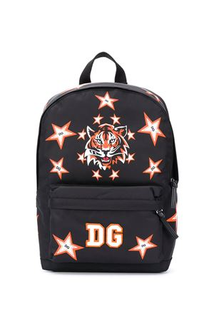 Black backpack with mulricolr Tiger print Dolce&Gabbana kids Dolce & Gabbana kids | 5032345 | EM0034AM407HNJ70