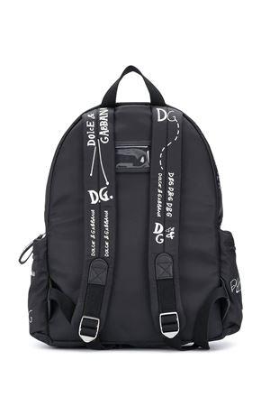 Black backpack with white print Dolce&Gabbana kids Dolce & Gabbana kids | 5032345 | EM0084AS772HN2FI