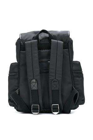 Black backpack with side pockets and white logo Dolce&Gabbana kids Dolce & Gabbana kids | 5032345 | EM0100AJ92380999