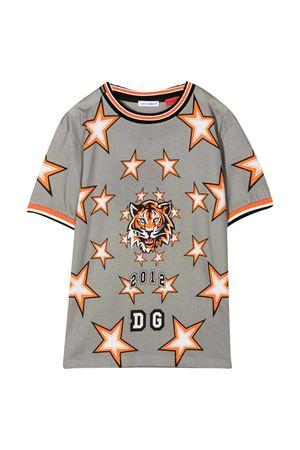 T-shirt grigia con stampa tigre e stelle Dolce&Gabbana kids Dolce & Gabbana kids | 8 | L4JT8FG7WJXHIJ70