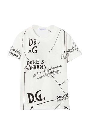 T-shirt bianca con stampa Dolce&Gabbana kids Dolce & Gabbana kids | 8 | L4JTBLG7XDCHH2FI