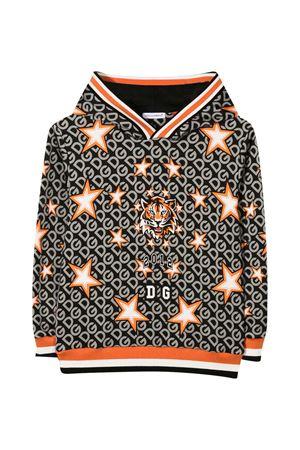 Sweatshirt with Tiger print and hood Dolce&Gabbana kids Dolce & Gabbana kids | -108764232 | L4JW8AG7WJWHHJ70