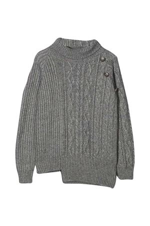 Dondup Kids asymmetric gray sweater DONDUP KIDS | 7 | BM205MY0028BXXX903