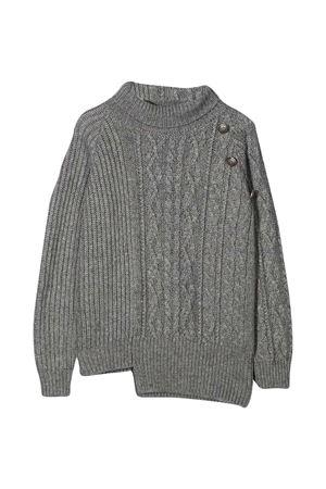 Dondup Kids gray asymmetrical teen sweater DONDUP KIDS   7   BM205MY0028BXXX903T