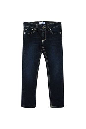 Dark blue stretch-cotton TEEN mid-rise slim jeans from DONDUP KIDS  DONDUP KIDS | 9 | YP270DS0290GAX2800T