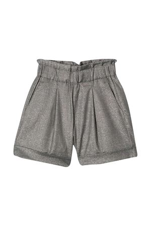 Grey cotton blend elasticated shorts from DONDUP KIDS  DONDUP KIDS | 9 | YP341TY0068GXXX920