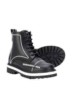 Dsquared2 Kids black combat boots DSQUARED2 KIDS | 12 | 65196VAR1