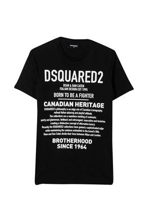 Dsquared2 Kids teen black t-shirt  DSQUARED2 KIDS   8   DQ046WD00XGDQ900T