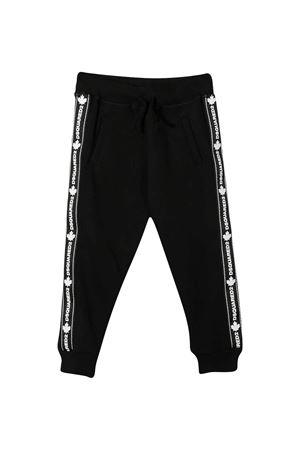 Pantalone sportivo nero teen con bande laterali DSQUARED2 kids DSQUARED2 KIDS | 9 | DQ047XD00V3DQ900T