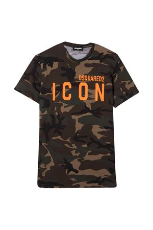 Camouflage teen t-shirt Dsquared2 Kids DSQUARED2 KIDS | 8 | DQ048SD002VDQC03T