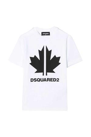 White t-shirt Dsquared2 kids DSQUARED2 KIDS   8   DQ0492D00X4DQ100