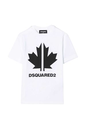 T-shirt bianca teen Dsquared2 kids DSQUARED2 KIDS | 8 | DQ0492D00X4DQ100T