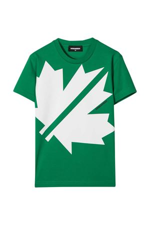 T-shirt verde teen Dsquared2 kids DSQUARED2 KIDS | 8 | DQ0494D00X4DQ512T