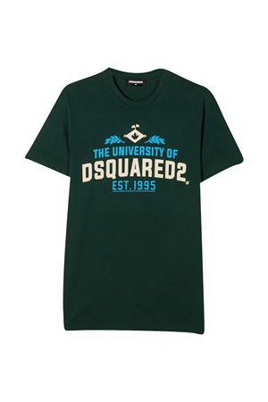T-shirt verde con stampa multicolor DSQUARED2 kids DSQUARED2 KIDS | 8 | DQ0497D002FDQ560